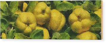 Quince Wood Print