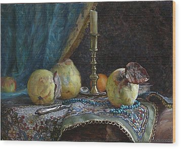 Quince Wood Print by Korobkin Anatoly
