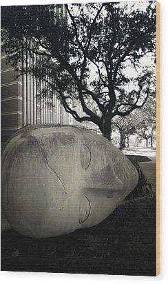 Quit While U R A  Head Wood Print by Robert McCubbin