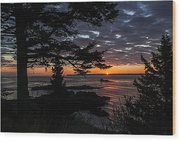 Quoddy Sunrise Wood Print