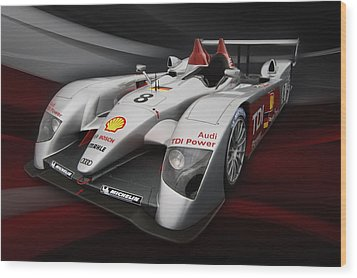 R10 Le Mans 2 Wood Print by Peter Chilelli