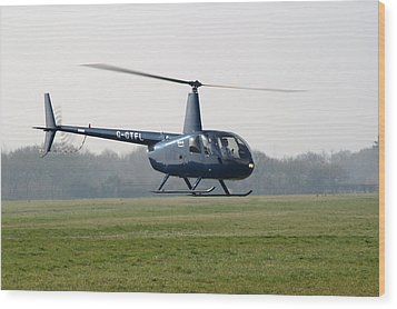 R44 Raven Helicopter Wood Print