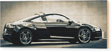 R8 Dreams In Black And White Wood Print