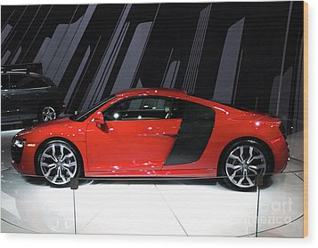 R8 In Red Wood Print by Alan Look