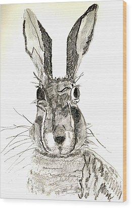 Rabbit Wood Print by Sandy McIntire