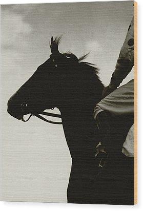 Race Horse Gallant Fox Wood Print by Edward Steichen