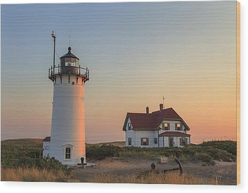 Race Point Lighthouse Wood Print by Bill Wakeley
