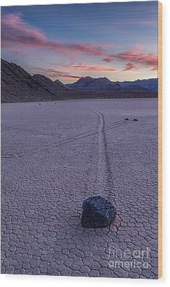 Race Track Death Valley Wood Print by Jerry Fornarotto