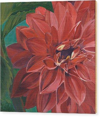 Rachael's Dahlia Wood Print by Jodi Terracina