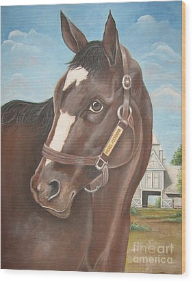 Rachel Alexandra At Stonestreet Farms Wood Print