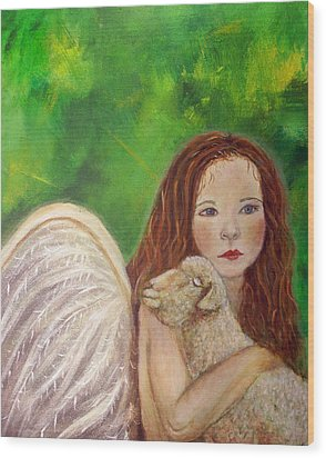Rachelle Little Lamb The Return To Innocence Wood Print by The Art With A Heart By Charlotte Phillips