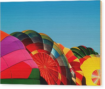 Racing Balloons Wood Print by Bill Gallagher