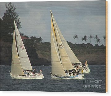 Wood Print featuring the photograph Racing In Kauai by Laura  Wong-Rose