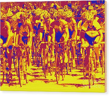 Racing Pelaton Wood Print by David Bearden