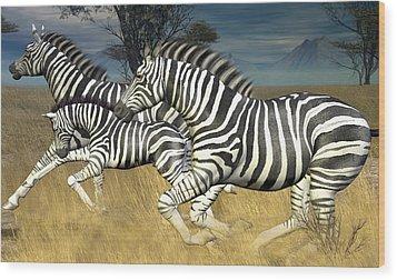 Wood Print featuring the digital art Racing Stripes by Jayne Wilson