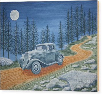 Wood Print featuring the painting Racing Was Born In North Carolina by Stacy C Bottoms