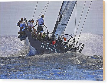 Racing Yacht Wood Print