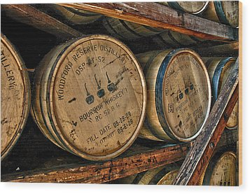 Rack House Woodford Reserve Wood Print by Allen Carroll