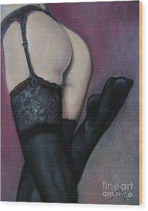 Racy Lacy Wood Print by Jindra Noewi