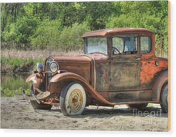 Rad Rusty Ride Wood Print