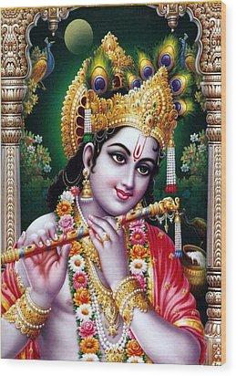 Radha Krishna Idol Hinduism Religion Religious Spiritual Yoga Meditation Deco Navinjoshi  Rights Man Wood Print