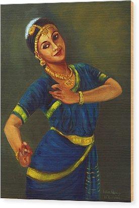 Radha Playing Krishna Wood Print