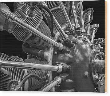 Radial Aircraft Engine Wood Print