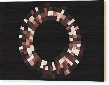 Radial Mosaic In Brown Wood Print