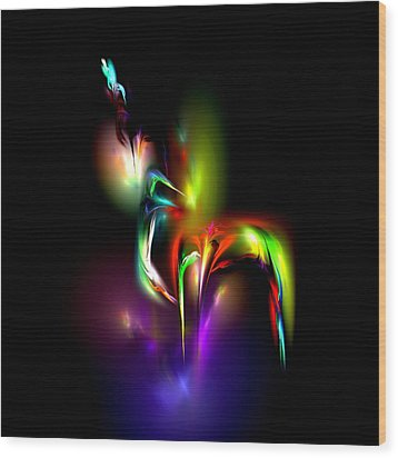 Wood Print featuring the digital art Radiance by Pete Trenholm