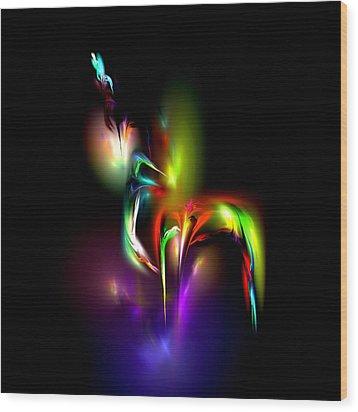 Radiance Wood Print by Pete Trenholm