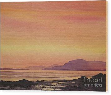 Radiant Island Sunset Wood Print by James Williamson