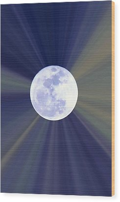 Wood Print featuring the photograph Radiant Moon by Kelly Nowak