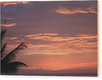 Wood Print featuring the photograph Radiant Sunset 2 by Karen Nicholson