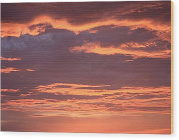 Wood Print featuring the photograph Radiant Sunset 3 by Karen Nicholson