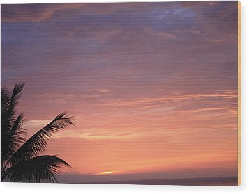 Wood Print featuring the photograph Radiant Sunset by Karen Nicholson