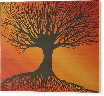 Radiant Tree Wood Print