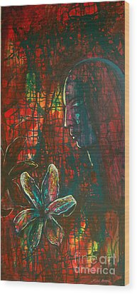 Wood Print featuring the painting Radiating Light by Mini Arora