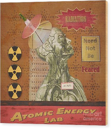 Radiation Need Not Be Feared Wood Print by Desiree Paquette