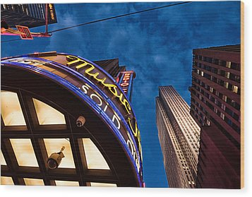 Wood Print featuring the photograph Radio City And 30 Rock by James Howe