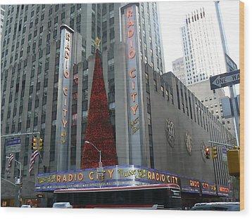 Radio City Christmas Wood Print by Michael Porchik