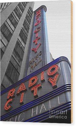 Radio City Wood Print by Dan Holm