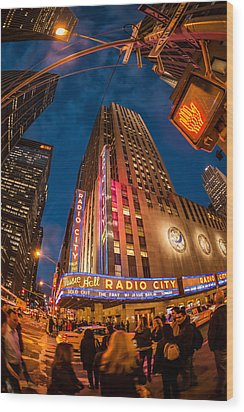 Wood Print featuring the photograph Radio City by James Howe