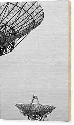 Radiotelescope Antennas.  Wood Print