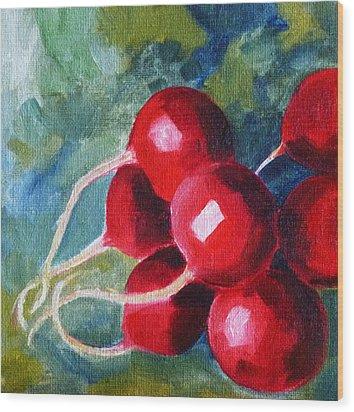 Radish Wood Print by Nancy Merkle