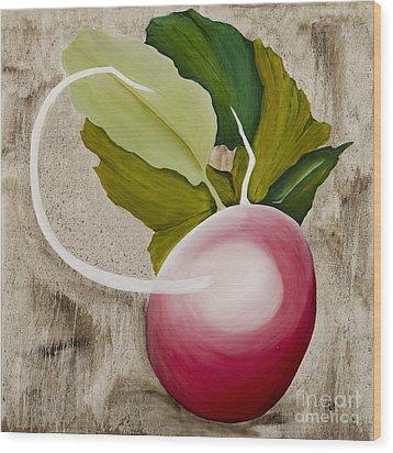 Wood Print featuring the painting Radish by Stuart Engel
