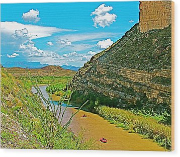 Rafting In Santa Elena Canyon In Big Bend National Park-texas Wood Print by Ruth Hager