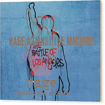 Rage Against The Machine Wood Print by Dan Sproul