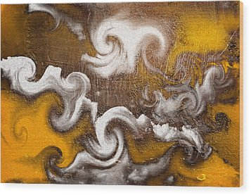 Rage Wood Print by Davina Washington