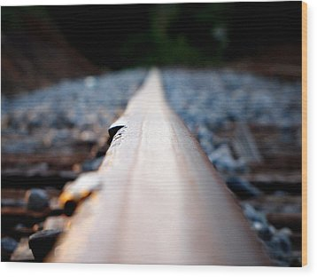 Wood Print featuring the photograph Rail Line by Greg Simmons