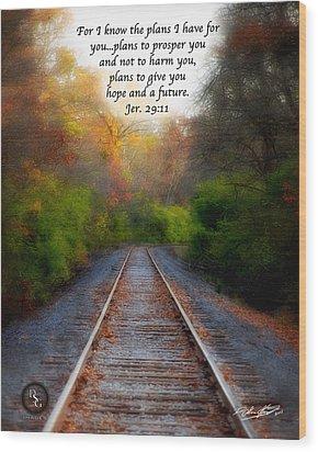 Rail Of Hope Wood Print
